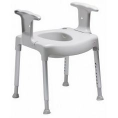 Elevador de asiento inodoro con reposabrazos comode swif  #baño #wc #adaptado…