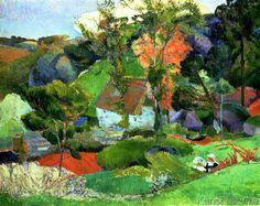 Paul Gauguin - Landscape at Pont Aven, 1888