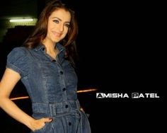 Amisha in jeans dress
