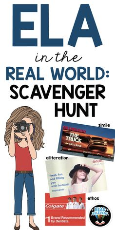 in the Real World: Scavenger Hunt Activity This fun activity is a great assessment for literature and language terms. No prep, just print and use!This fun activity is a great assessment for literature and language terms. No prep, just print and use! 6th Grade Reading, 6th Grade Ela, Ninth Grade, Seventh Grade, Middle School Ela, Middle School English, High School, Education English, Teaching English