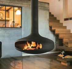 DOMOFOCUS - Designer Open fireplaces from Focus ✓ all information ✓ high-resolution images ✓ CADs ✓ catalogues ✓ contact information ✓ find. Suspended Fireplace, Hanging Fireplace, Open Fireplace, Fireplace Ideas, Bonfire Grill, Focus Fireplaces, Gatsby House, Scandinavian Fireplace, Fire Pit Bbq