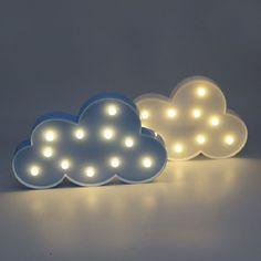 1 sztuk Piękny Biały/Niebieski Chmura Marquee DOPROWADZIŁY światła LED Night Light Ciepły Biały Lampa Stołowa Ładne Prezenty dla dzieci Dekoracji Pokoju