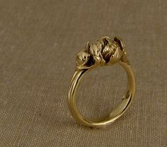 18K Hand-Carved Peony Ring I so love peonies! What a joy to wear a peony ring.
