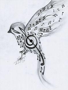 dibujos musica a lapiz - Buscar con Google