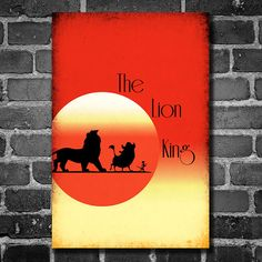 Disney Art The Lion King Poster movie poster disney by Harshness, $19.00