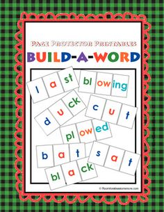 More than 30 pages of letters to build CVC words and more! Can use with page protectors for active learning or stand alone. Unique, successful, and FUN! $6.50