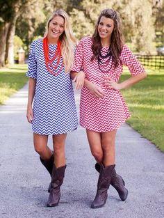 Chevron Gameday dress