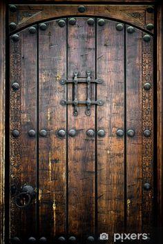 Ancient Wooden Door Stock Photo (Edit Now) 85780897 Rustic Doors, Wooden Doors, Medieval Door, Castle Doors, Door Images, Pub Design, Rustic Cafe, Old Shutters, Door Knockers