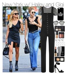 """New York w/ Hailey and Gigi"" by your-fashion-lover ❤ liked on Polyvore featuring Topshop, M.i.h Jeans, Alexander McQueen, Casetify, Christian Dior, NARS Cosmetics, ASOS, Bobbi Brown Cosmetics, shu uemura and le top"