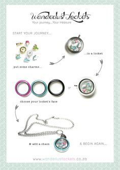 New Fun Lockets, collect colourful faces and have a locket for every occasion.  www.wanderlustlockets.co.za
