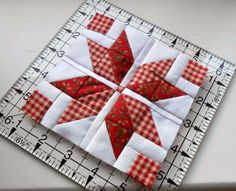 The Patchsmith: Nordic Mini Quilt Sew Along - star quilt block