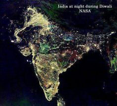Happy Diwali by NASA via intentblog:  Diwali, the annual Hindu Festival of Lights, is currently lighting up the sky in India! The five day festival is celebrated between mid-October and mid-November in India each year and is one of the most important celebrations of the year for Hindu and Jain families.  Traditionally, people light small clay lamps filled with oil to signify the triumph  of good over evil, wear new clothes, and celebrate by sharing sweets with family and friends. #Diwali #NASA