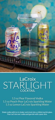 Skinny Pear Vodka Cocktail with LaCroix. ad