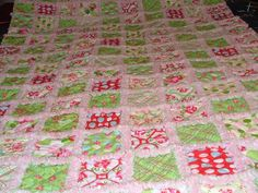 Quilting: Single Bed 4 layer Rag Quilt