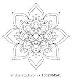 Mandala Coloring page.Circular pattern in form of mandala for Henna Mehndi tattoo decoration. Simple Mandala Tattoo, Mandala Tattoo Design, Mandala Drawing, Lotus Mandala Design, Henna Mandala, Henna Tattoo Hand, Henna Mehndi, Henna Tattoos, Henna Art