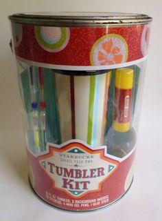 Starbucks Create Your Own Tumbler Travel Mug Kit 2006 16 oz NEW #Starbucks