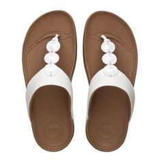 11a72e74a8a1c FitFlop Petra™ Leather White  summer  sandals  ss15 http   www