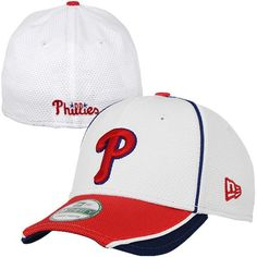New Era Philadelphia Phillies Youth 39THIRTY Abrasion Hat - White New Era  39thirty 0bbde90af6f2
