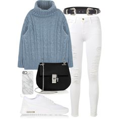 Untitled #466 by flawedparadise on Polyvore featuring polyvore, fashion, style, Frame, NIKE, Chloé, Uncommon, ASOS and clothing
