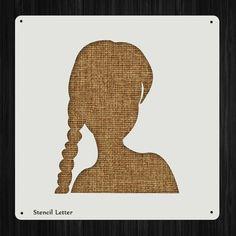 Woman Girl Head Style 1306, DIY Plastic Stencil Acrylic Mylar Reusable