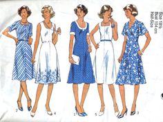 70's Unused Vintage Sewing Pattern. Short flared dress pattern VintagePatternCo, £3.90