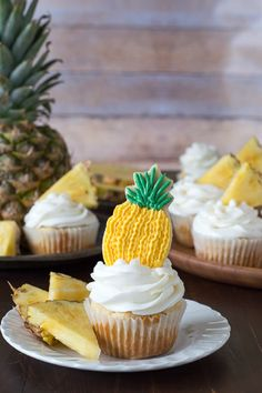 Pineapple Cupcakes - 10 Colorful Cupcake Recipes to Spoil Your Loved Ones