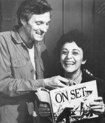 Alan and Arlene Alda on the set of M*A*S*H.