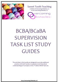 BCBA/BCaBA and RBT resources including study guides, exam prep and supervision activities.