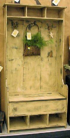 Simple hall tree...  plus storage.