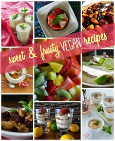 Loads of sweet, cool, creamy, and fruity recipes on An Unrefined Vegan. Celebrate summer!