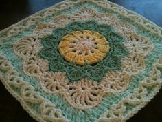 "Ravelry: Project Gallery for Pizzazz - 12"" Square pattern by Melinda Miller"
