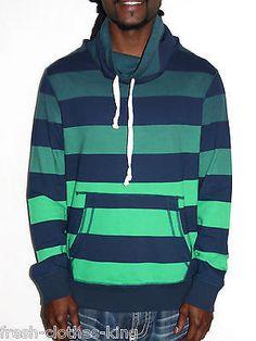 PRPGNDA Sweater New $59.50 Mens Green Stripe Turtle Neck Pull Over Choose Size