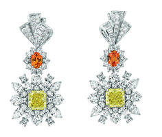 Soie Dior, new Dior Collection by Victoire De Castellane Titanic Jewelry, Dior Jewelry, Yellow Jewelry, Jewellery Boxes, Jewelry Box, Fantasy Jewelry, Colored Diamonds, Yellow Diamonds, Earrings