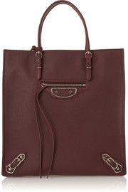 $2,085 - Balenciaga - Papier A5 textured-leather tote