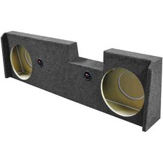 """Qpower Dual 12"""" Woofer box for 2014 GM Crew Cab Under seat FRONT fire"""