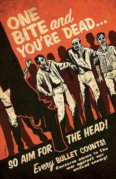 Zombie Propaganda Poster by Matt Talbot