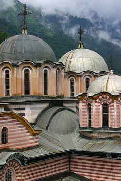 Domes of the Rila Monastery - Bulgaria