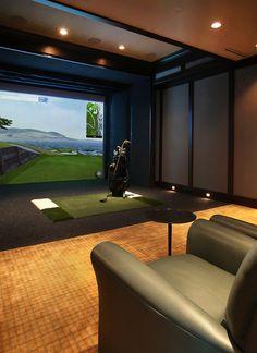 Indoor putting and driving range Golf Practice Range Pinterest