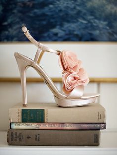 Blush Badgley Mishka wedding shoes