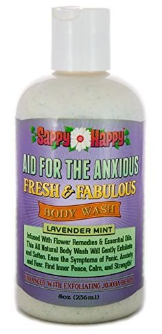 Aid for Anxious Organic Body Wash  All Natural Therapy for Anxiety Panic and Fears  A therapeutic blend of natural flower remedies and essential oils to help you remain calm Lavender Mint 8 oz ** Details can be found by clicking on the image.