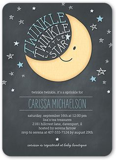 Twinkle Twinkle Boy 5x7 Stationery Card by Yours Truly