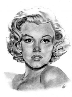 Marilyn Monroe by ARitz [charcoal drawing] || This image first pinned to Marilyn Monroe Art board, here: http://pinterest.com/fairbanksgrafix/marilyn-monroe-art/ ||