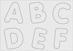 Nosso Espaço da Educação: Molde das letras do alfabeto
