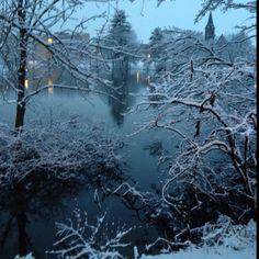 Winter wonderland in amherst ma  =)