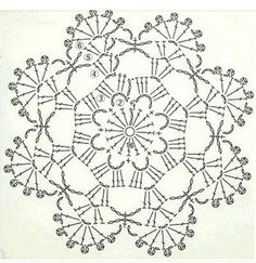 Here's a nice little crochet chart pattern from Sugar_LYS found on a…Pretty little doily; Photo pinned to my crochet boardMingky Tinky Tiger + the Biddle Diddle Dee: Photo Crochet Snowflake Pattern, Crochet Stars, Crochet Circles, Crochet Snowflakes, Crochet Blocks, Crochet Flower Patterns, Crochet Round, Thread Crochet, Crochet Granny