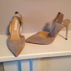 Diane Von Furstenberg NEVER WORN sling back heels Diane Von Furstenberg NEVER WORN suede taupe sling back heels. MAKE ME AN OFFER Shoes Heels