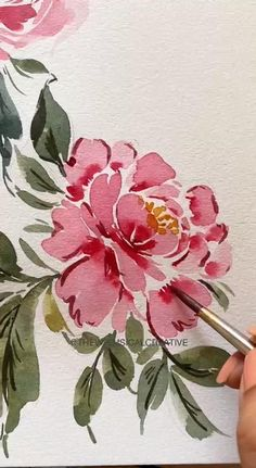 Watercolor Art Lessons, Watercolor Paintings For Beginners, Watercolor Flowers Tutorial, Floral Watercolor, Illustration Inspiration, Floral Drawing, Art Drawings Sketches Simple, Painting Gallery, Watercolors
