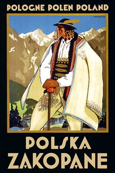 Pacifica Island Art Pologne Polen Poland - Polska Zakopane (Poland resort town of Zakopane) - Tatras Mountains - Vintage World Travel Poster by Stefan Norblin - Fine Art Print - x