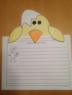 Inside my chick's shell..students use their imagination to describe what their chick has inside of its shell before it hatches!