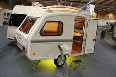 Niewiadow Predom N126,  made since 1973 Small Camper Trailers, Tiny Camper, Small Campers, Retro Campers, Cool Campers, Camper Van, Camp Trailers, Small Caravans, Jeep Camping